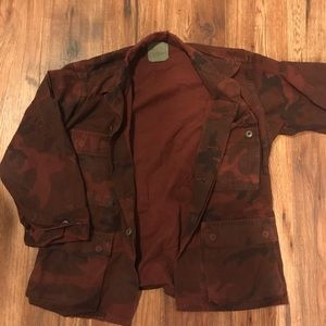 Urban outfitters red/brown camo jacket